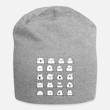 Hippie Cat Character Graphic - Jersey-Beanie