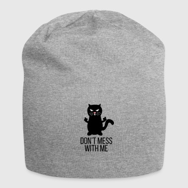 Villain Kitten tomcat rebel villain gift idea - Jersey Beanie