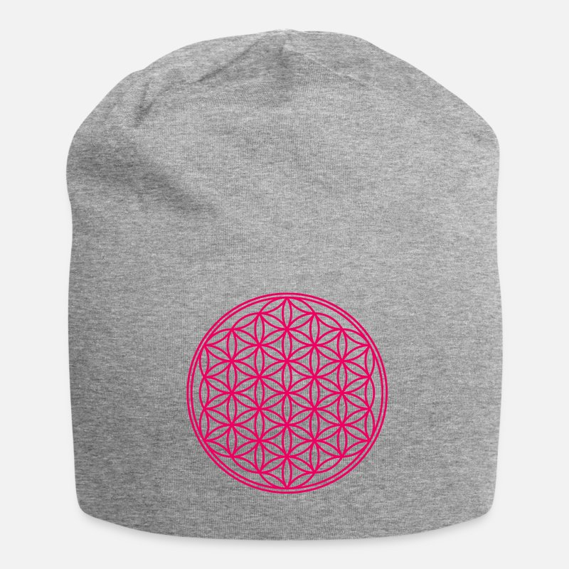 Life Flower Caps & Hats - flower of Life - Beanie heather grey