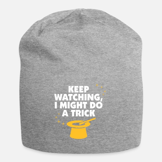 Magic Caps & Hats - Keep Watching, I Might Do A Trick! - Beanie heather grey