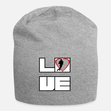 Touch Down Love love football touchdown touch down - Jersey Beanie
