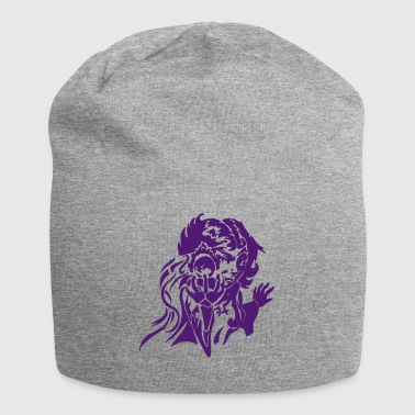 Gnom magician with fireball RPG fantasy vector - Jersey Beanie