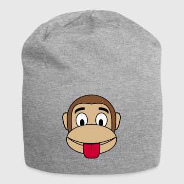 Monkey cheeky tongue stick out - Jersey Beanie