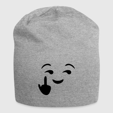 Fuck you emoji - emoticon - smiley - Gorro holgado de tela de jersey