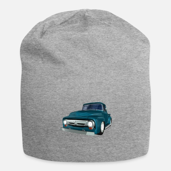 Hot Rod Caps & Hats - Classic Car, Pickup, V8, Vintage - Beanie heather grey