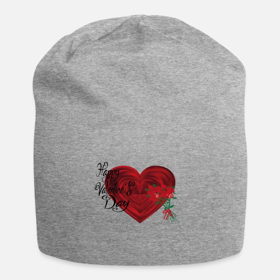 Love Caps & Hats - Happy Valentine's Day T-shirt - Beanie heather grey