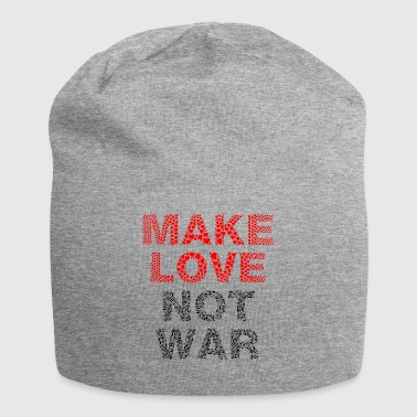 make Love Not War lettering - Jersey Beanie