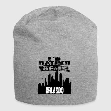 Gift Id rather be in Orlando - Jersey Beanie