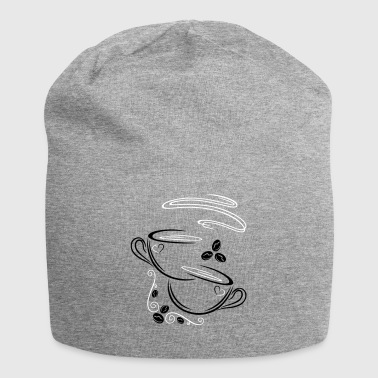 Coffee Cups with coffee beans - Jersey Beanie