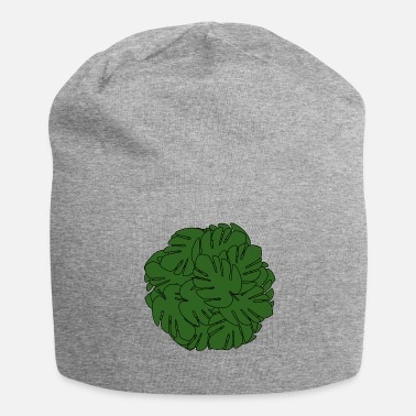 Uniform Monstera bladbal uniform groen - Jersey-Beanie