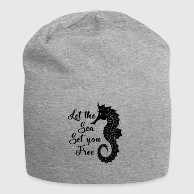 Love the sea. Nautical.Cool Seaside Gifts.Seahorse - Jersey Beanie
