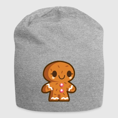 Christmas gingerbread man friendly - Jersey Beanie