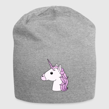 testa Unicorno in lilla - Beanie in jersey