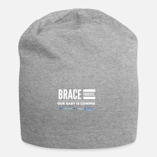 Kinder Caps & Mützen - Brace YOurself, our Baby is coming - Beanie Grau meliert