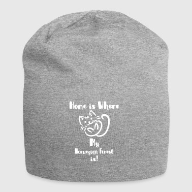 home is where my Norwegian Forest is shirt - Jersey Beanie