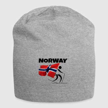 Country Biathlon with heart in Norway as a gift - Jersey Beanie