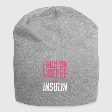 I Run On Coffee And Insulin Diabetes - Jersey Beanie