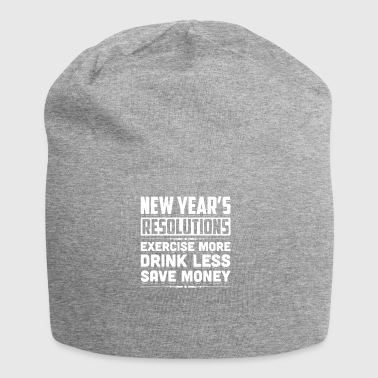 New Year's Resolutions Funny 2018 Resolution - Jersey Beanie