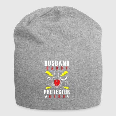 Mens Husband Daddy Protector Hero - Jersey Beanie