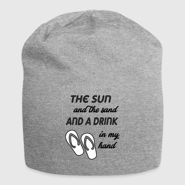 the sun and the sand - Jersey Beanie