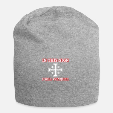 Knights Cross Crusader Cross of Jerusalem Knights - Jersey Beanie