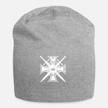 Knights Of St John Knights Templar In Hoc Sign Vinces Gift - Jersey Beanie
