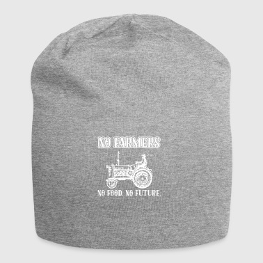 No Future No Framers No Food Nessun futuro regalo per trattori - Beanie in jersey