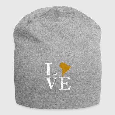 Love continent south america world travel gift - Jersey Beanie