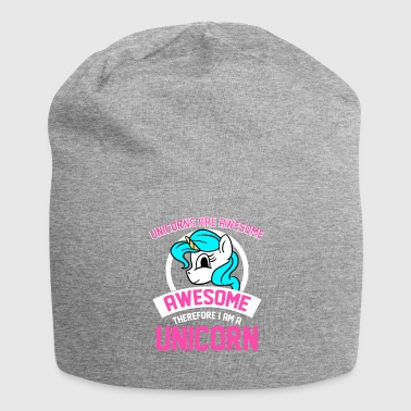 Unicorns Are Awesome I Am Awesome I Am Unicorn - Beanie in jersey