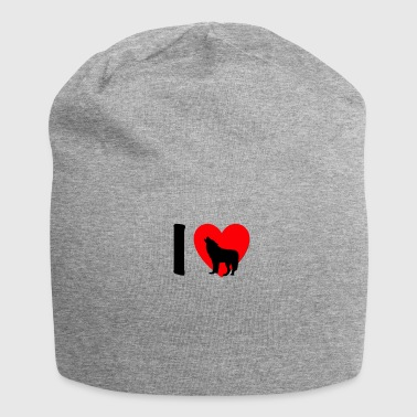 I heart wolves (Wolf) - Jersey-Beanie