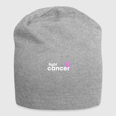 Breast Cancer Ribbon Fight Breast Cancer - Pink Ribbon Tee - Jersey Beanie