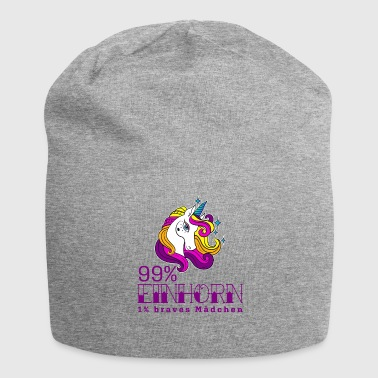 99 percent Unicorn 1 percent good girl - Jersey Beanie