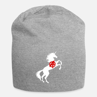 Anarchism Unicorn Anarchy Symbol T-Shirt Anarchism Magical - Jersey Beanie