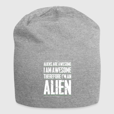 Aliens Awesome I Am Awesome Funny Alien Humor - Beanie in jersey