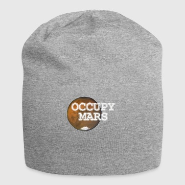 Mars Occupy Mars colonization of Mars - Jersey Beanie