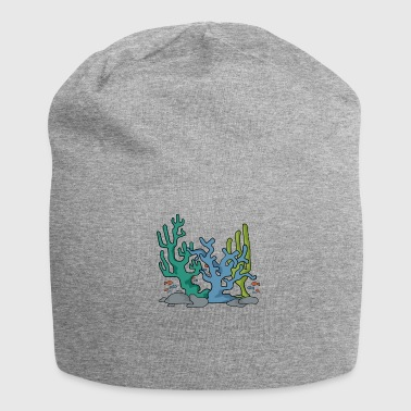 Coral reef nature navy aqua gift idea - Jersey Beanie