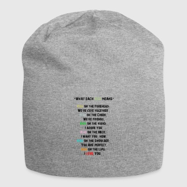 What a kiss means. Meaning of kisses - Jersey Beanie