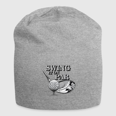 Golf Swing Swing it on par golfing golf tshirt - Jersey Beanie