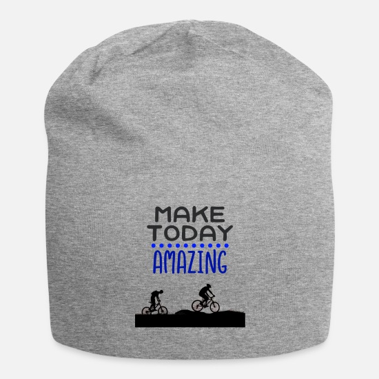 Gift Idea Caps & Hats - Biking together - Beanie heather grey