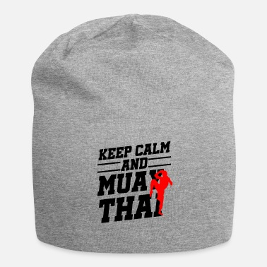 Thai Keep Calm Muay Thai Kickboxing Fighter Gift - Jersey Beanie