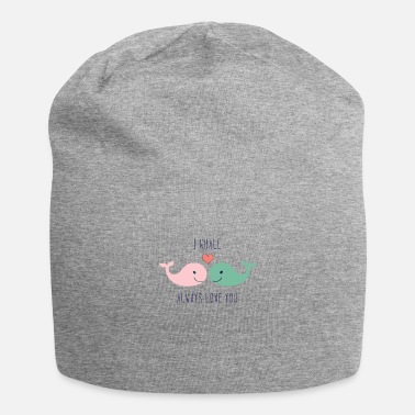 Lovely Cute whales love in love saying love gift couple - Beanie