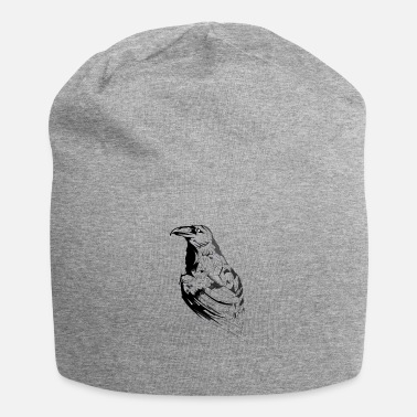 Black Crow black and white sketch - Beanie