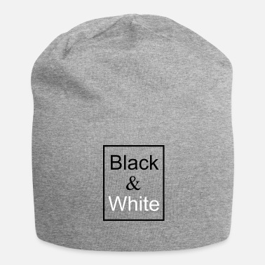 Black Black and white - Beanie