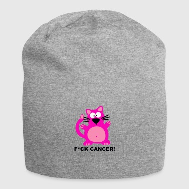 Fuck Cancer Katze Free Design Krebs Fight Cat - Gorro holgado de tela de jersey