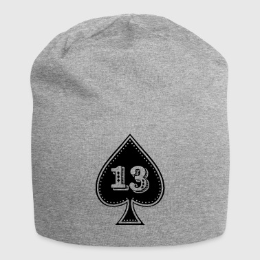 rocker design Ace of Spades with number 13 - Jersey Beanie