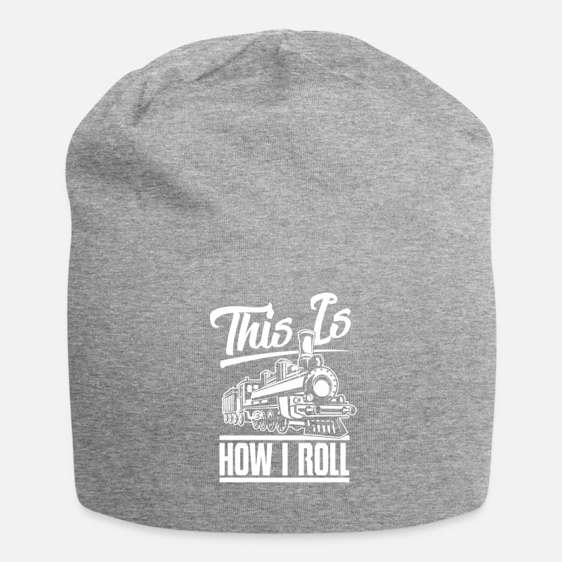 Train Driver Caps & Hats - This is how I roll railway workers train train drivers - Beanie heather grey
