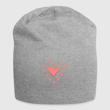 Heart with gold rim - Jersey Beanie