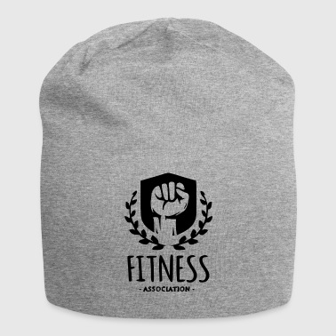 Fitness Association, fist with wreath- black - Jersey Beanie