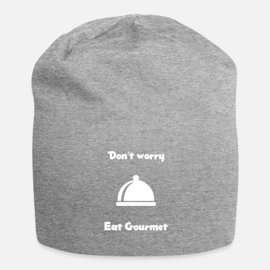 Boss Caps & Hats - Do not worry eat gourmet - Beanie heather grey