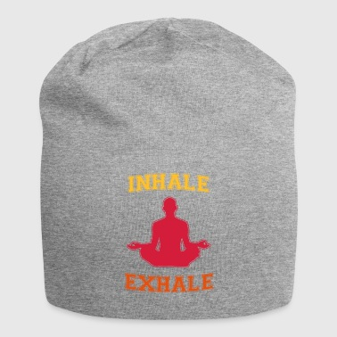 inhale exhale, inhale exhale dyeable! - Jersey Beanie